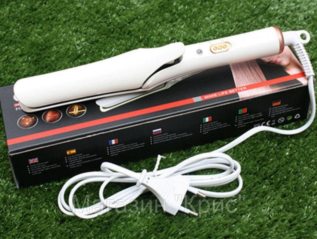SALE! Плойка Выпрямитель для волос GEMEI GM-2956 с керамическим покрытием(ВЫРАВНИВАТЕЛЬ)