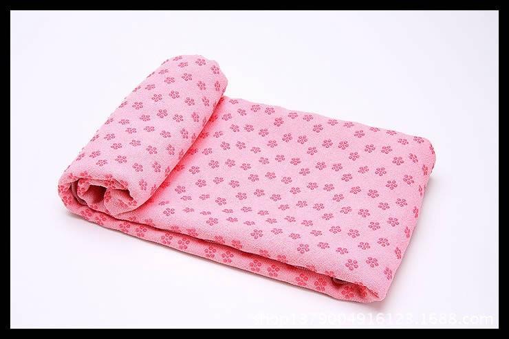 Йогамат, коврик для фитнеса, микрофибра, розовый