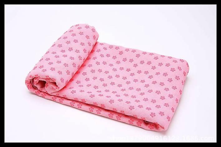 Йогамат, коврик для фитнеса, микрофибра, розовый, фото 2