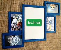 Коллаж #305, дерево, голубой, орех, белый, бесцветный, чёрный, венге, серый., фото 1