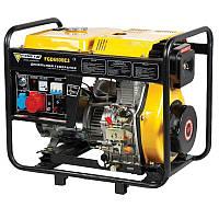 Электрогенератор дизельный 5.5 кВт., 3 фазы, Ручной/Электро старт, Forte FGD6500E3 (30750)
