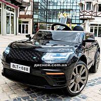 Детский электромобиль T-7834 EVA BLACK Land Rover, черный