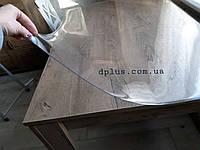 Пленка мягкое стекло силиконовая на стол ПВХ, толщина 2мм, глянцевая прозрачная 60х110(см)