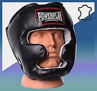 Закрытый Шлем боксерский тренировочный, подходит для карате и тхеквондо Чорний S/M