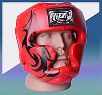 Закрытый Шлем боксерский тренировочный, подходит для карате и тхеквондо Червоний XL