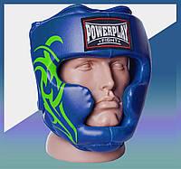 Закрытый Шлем боксерский тренировочный, подходит для карате и тхеквондо Синій XL