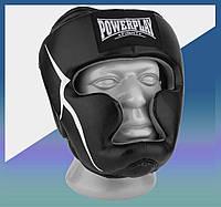 Закрытый Шлем боксерский тренировочный, подходит для карате и тхеквондо + Amara Чорний XL