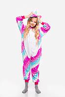 Пижама кигуруми Волшебная Единорог для детей Funny Mood 130 СМ Сиреневая