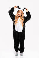 Пижама кигуруми Панда для детей Funny Mood 130 СМ Черная