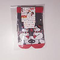 """Новогодние носки детские  зимние махровые внутри хлопок  1-2  года """"EKMEN """""""