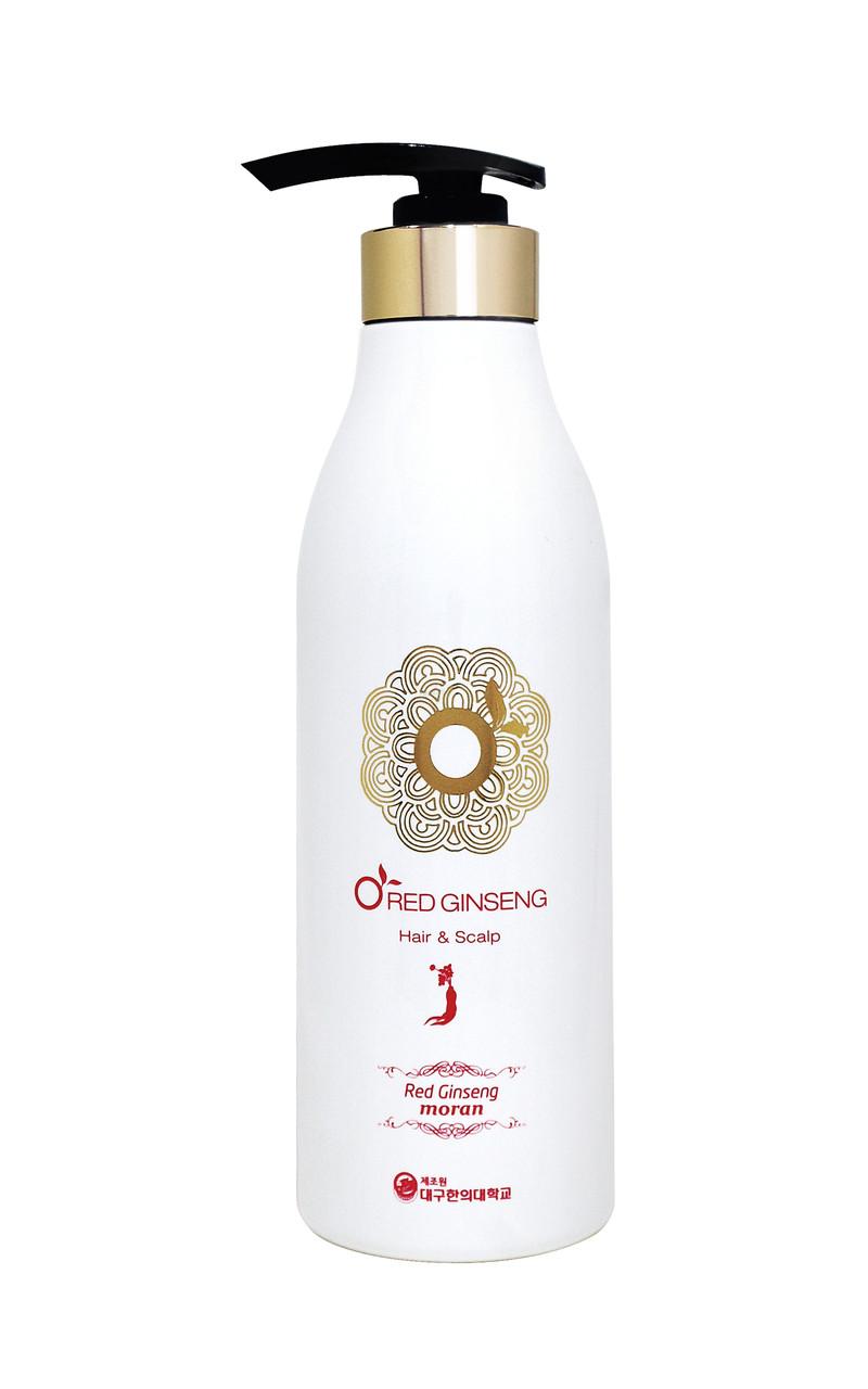 Комплексный шампунь для жирных волос Moran O Red Ginseng Shampoo Объем 500 мл