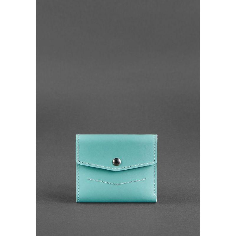 Женский кожаный кошелек 2.1 бирюзовый