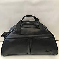 Спортивная сумка Nike из чёрного кожзама, Найк ( код: IBS035BB ), фото 1