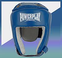Закрытый Шлем боксерский тренировочный, подходит для карате и тхеквондо cиний L