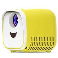 Vivibright L1 детский мини проектор кубик - Желтый/Белый