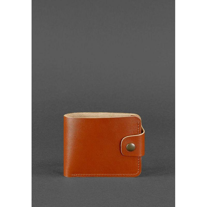 Кожаное портмоне 4.3 светло-коричневое