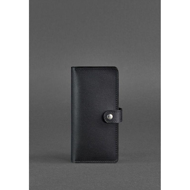 Кожаное женское портмоне 7.0 черное