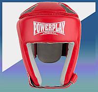 Закрытый Шлем боксерский тренировочный, подходит для карате и тхеквондо червоний S
