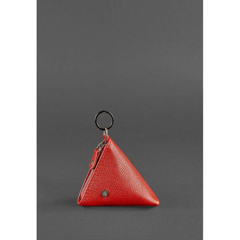 Женская кожаная монетница 2.0 Пирамида красная