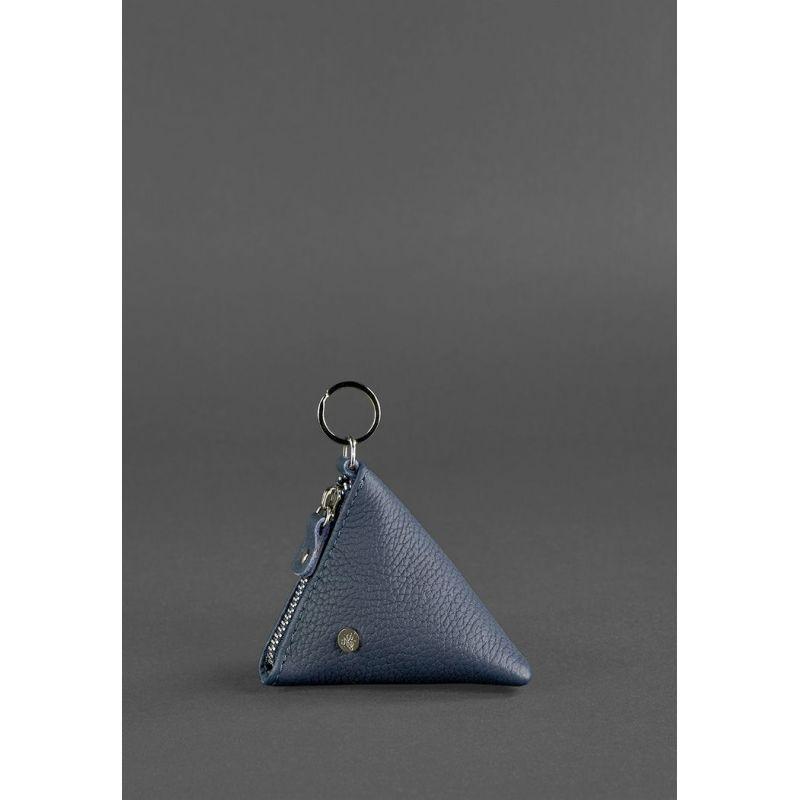 Кожаная монетница 2.0 Пирамида Синяя