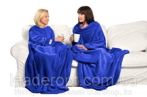 [ОПТ] Плед з довгими рукавами Snuggie Blanket. Плед-халат Snuggie Blanket