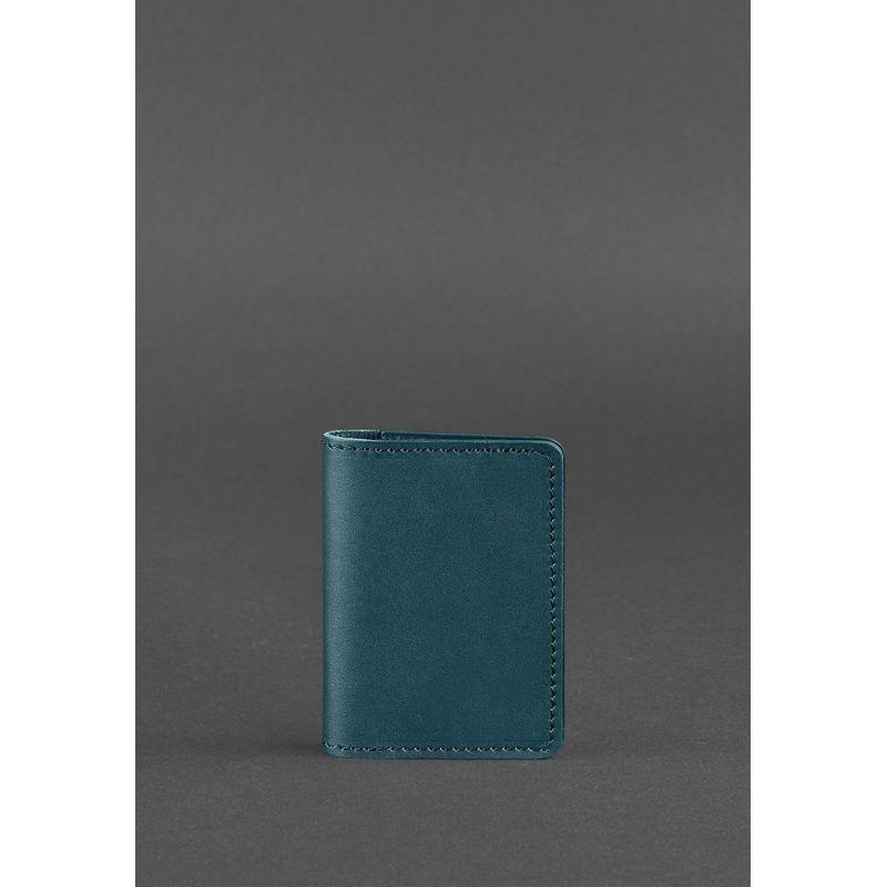 Женский кожаный кард-кейс 6.0 зеленый