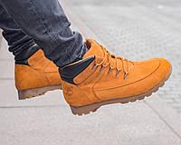 Зимові чоловічі черевики шкіра Timberland (репліка), фото 1