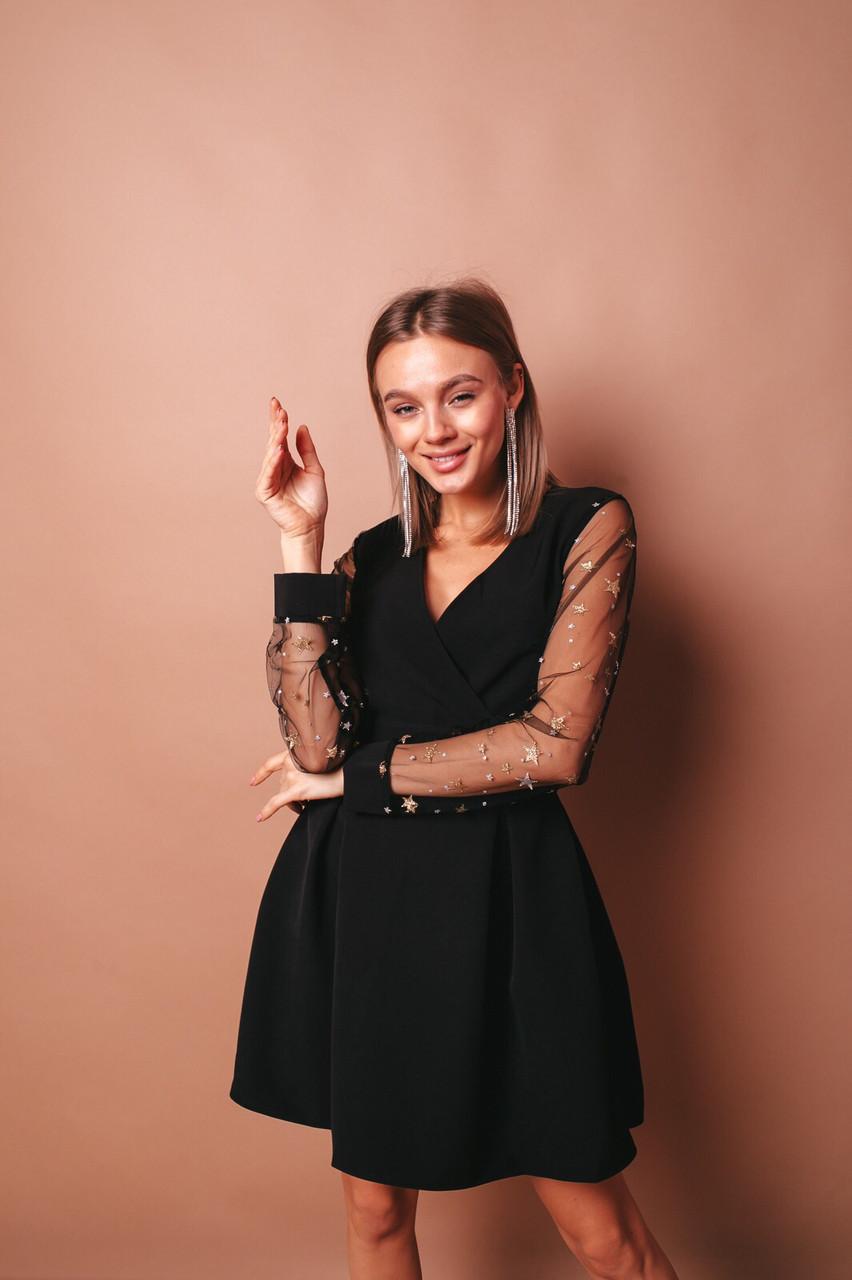 Платье женское вечернее чёрное 42-44, 44-46