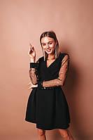 Платье женское вечернее чёрное 42-44, 44-46, фото 1