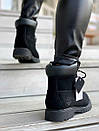 Женские ботинки Timberland Black Fur, нубук, фото 4