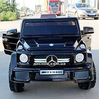Детский электромобиль FL 1058 EVA BLACK Mercedes, мягкие колеса, черный