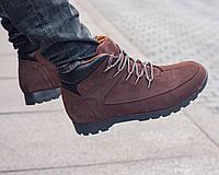 Зимние мужские ботинки кожа Timberland (реплика)