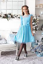 Детское красивое платье на девочку, украшенное евросеткой
