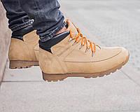 Ботинки мужские зимние кожа Timberland (реплика)