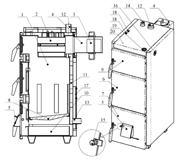 Проскуров АОТВ-10Н— недорогойкотел на твердом топливе