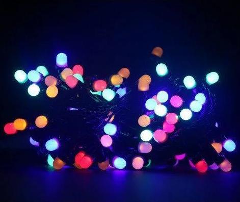 Гирлянда точка матовый 300LED 25м Микс (RD-7174), Новогодняя бахрама, Светодиодная гирлянда, Уличная гирлянда