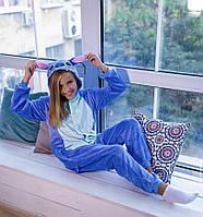 Детская пижама кигуруми стич голубой kig0045