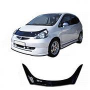 Дефлектор капота  Honda Jazz с 2001-2008, Мухобойка Honda Jazz