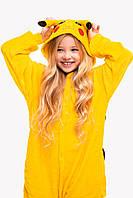 Пижама кигуруми Пикачу для детей Funny Mood 140 СМ Желтая