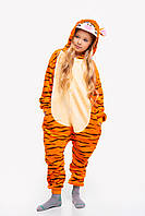 Пижама кигуруми Тигр для детей Funny Mood 130 СМ Оранжевая