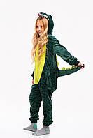Пижама кигуруми Зеленая Дино для детей Funny Mood 130 СМ Зеленая
