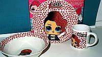 Детская посуда ЛОЛ на подарок, фото 1