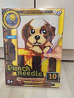 Ковровая вышивка Punch Needle Щенок