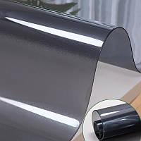 Пленка мягкое стекло  силиконовая  на стол ПВХ, толщина 2мм, черная премиум