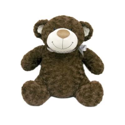 М'яка іграшка - ВЕДМІДЬ (коричневий, з бантом, 40см)