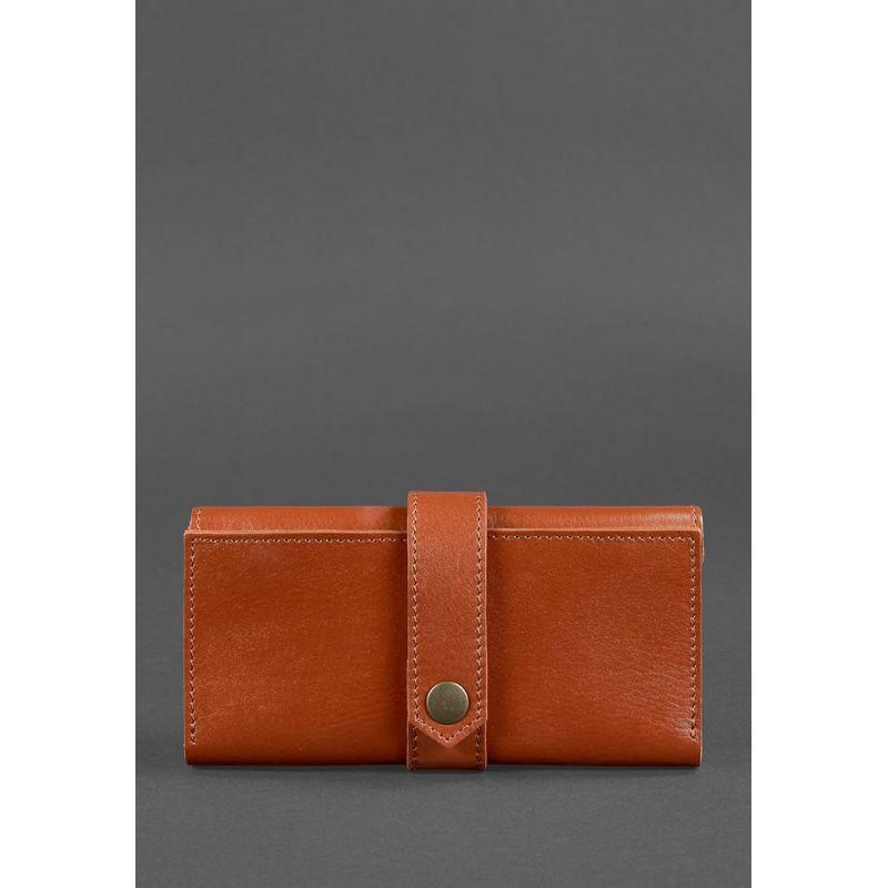 Кожаное женское портмоне 3.0 светло-коричневое