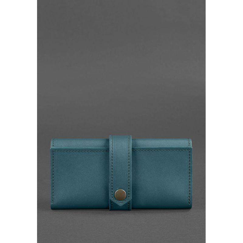 Кожаное женское портмоне 3.0 зеленое Краст