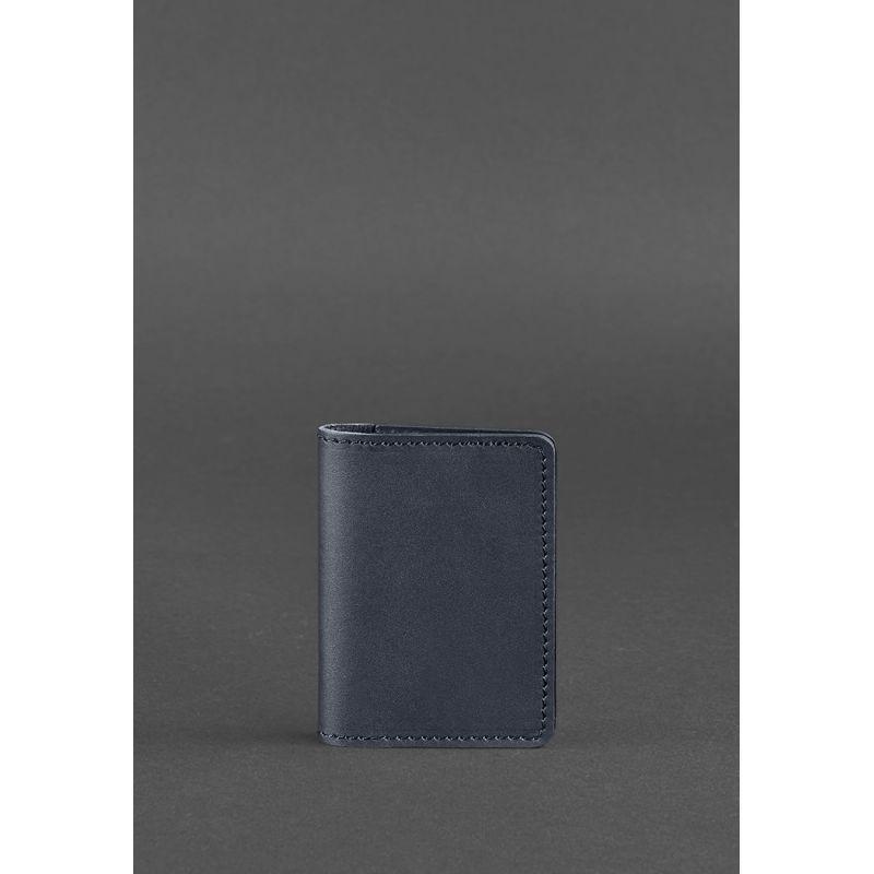 Кожаный кард-кейс 6.0 темно-синий