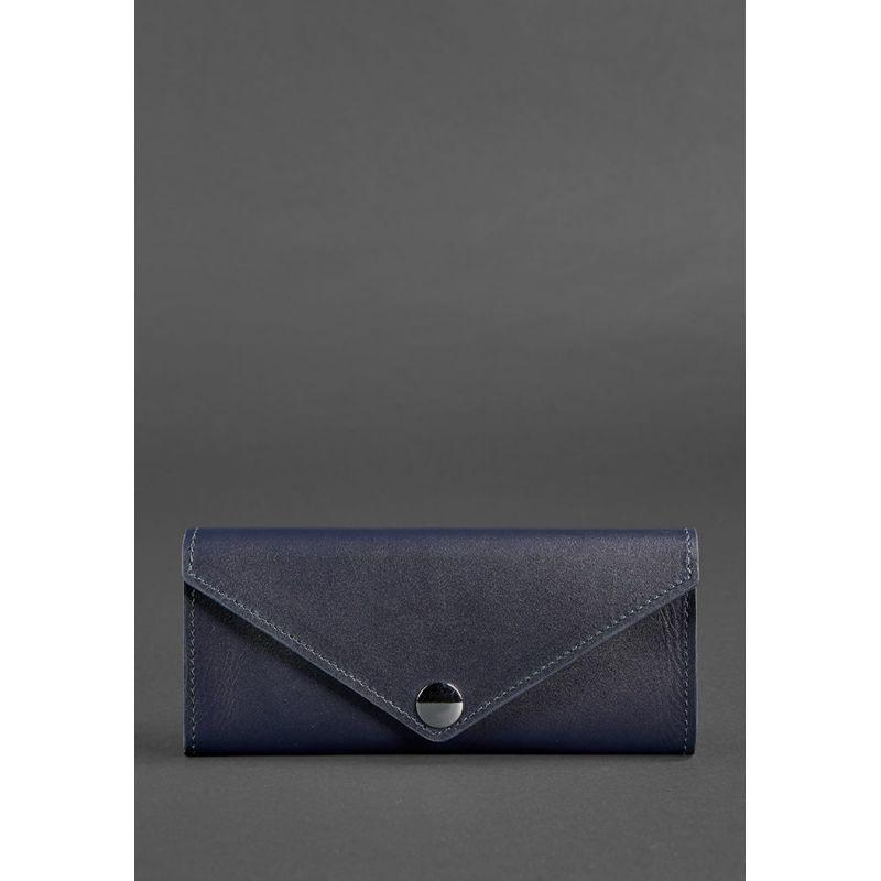 Женский кожаный кошелек Керри 1.0 темно-синий