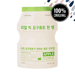 Тканевая маска с йогуртом и яблоком A'PIEU Real Big Yogurt One Bottle Apple